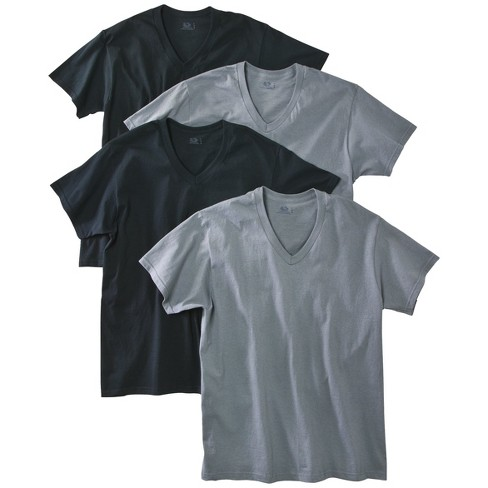 Fruit of the Loom - Men's 4 pack V-Neck T-Shirts Assorted Colors - image 1 of 3