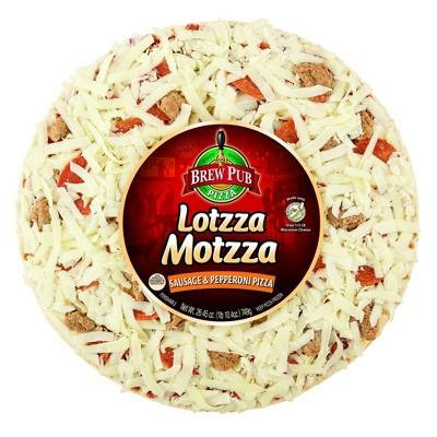 Brew Pub Lotzza Motzza Sausage & Pepperoni Frozen Pizza - 26.45oz