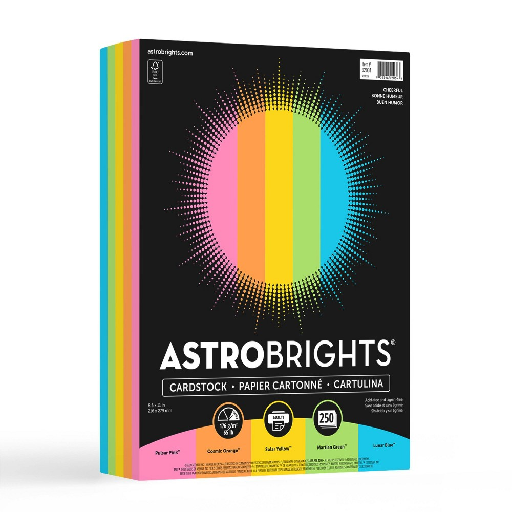 250 Sheets Cardstock 8 5 34 X11 34 Cheerful Astrobrights