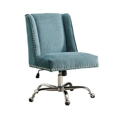 Draper Office Chair - Aqua - Linon