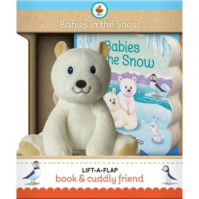 Babies in the Snow Gift Set - (Children's Interactive Lift-A-Flap Board Book and Cuddly Plush Toy Friend)by Ginger Swift (Board Book)