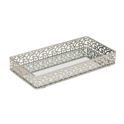 Bathroom Tray Silver - Home Details