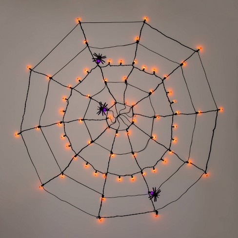"60"" Incandescent Spider Web Halloween Light Up Decor (with Spiders) - Hyde & EEK! Boutique™ - image 1 of 3"
