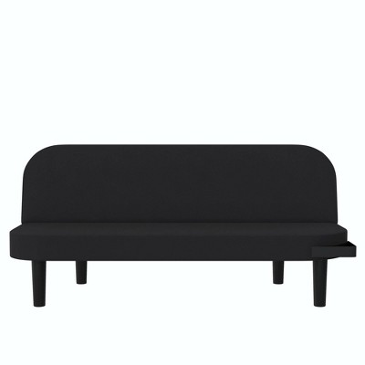 Yoki Multi Purpose Futon with Tray Linen Black - Room & Joy