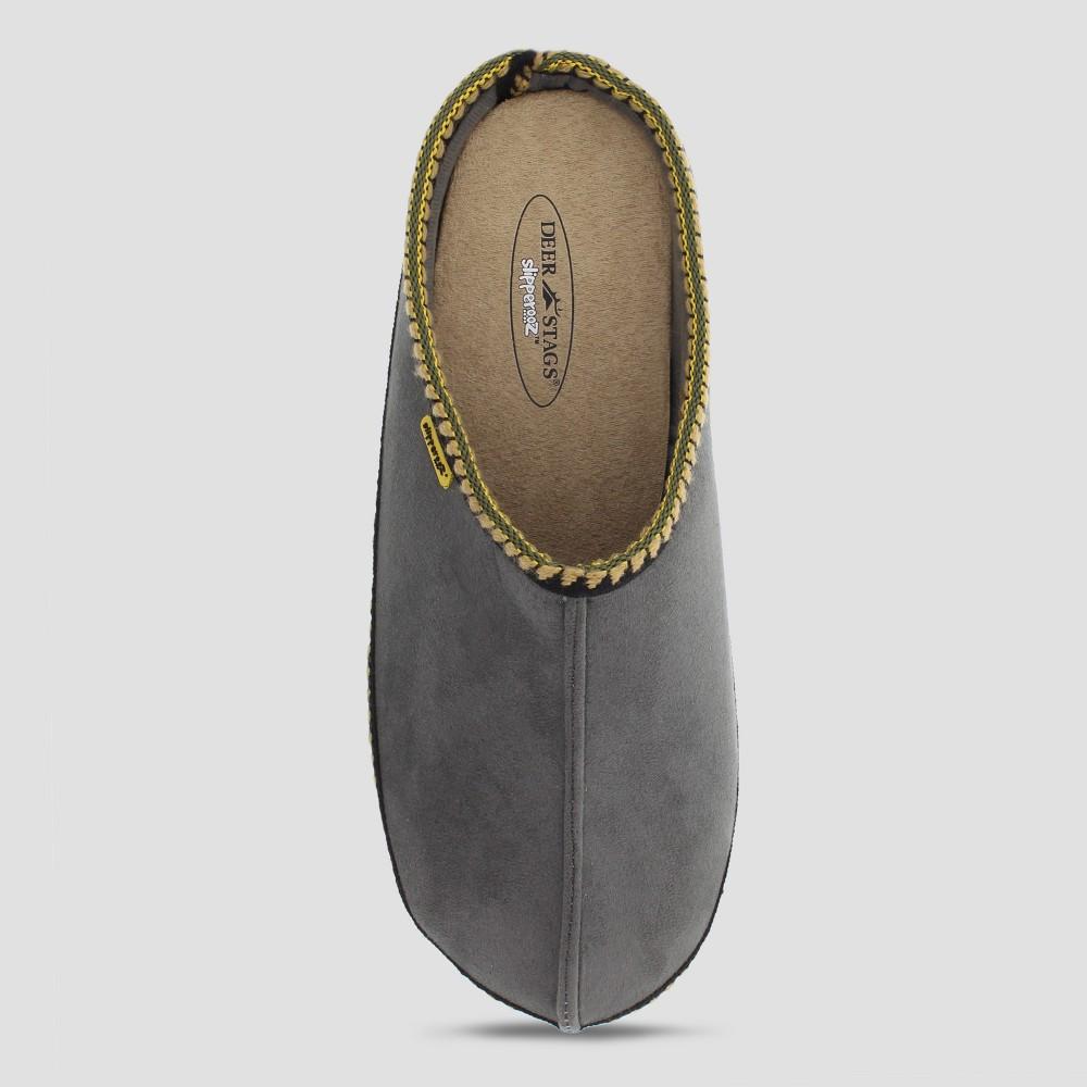 Men's Deer Stags Wide Width Wherever Slide Slippers - Gray 13W, Size: 13 Wide