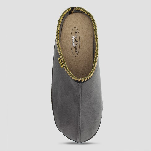 Men's Deer Stags Wide Width Wherever Slide Slippers - Gray - image 1 of 3