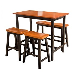 Pomeroy 4pc Dining Set Walnut - Christopher Knight Home