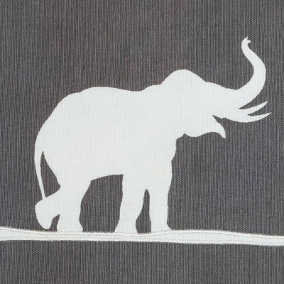 """Charcoal/White Marching Elephants Throw Pillow (20""""x20"""") - Rizzy Home : Target"""