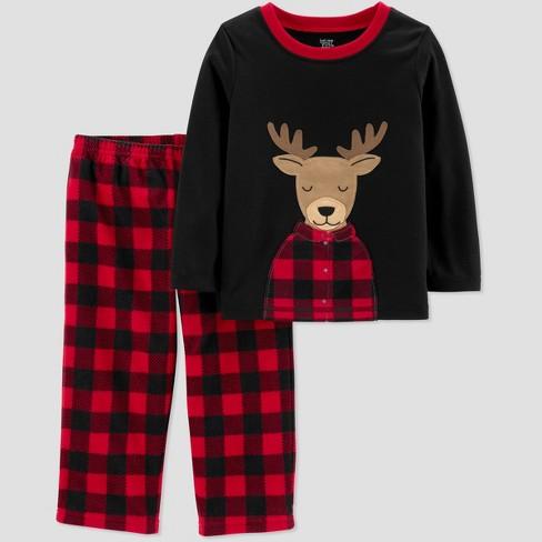 8c4c09478 Toddler Boys  Reindeer 2pc Pajama Set - Just One Yo   Target