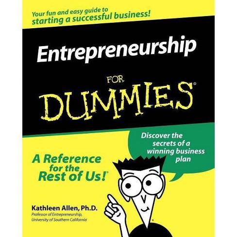 Entrepreneurship for Dummies - (For Dummies) by  Kathleen Allen & Allen (Paperback) - image 1 of 1