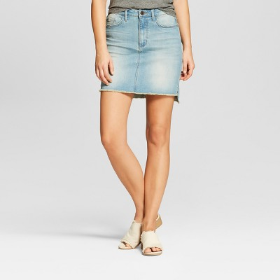 Women's Step Hem Jean Skirt   Crafted By Lee Light Wash by Crafted By Lee