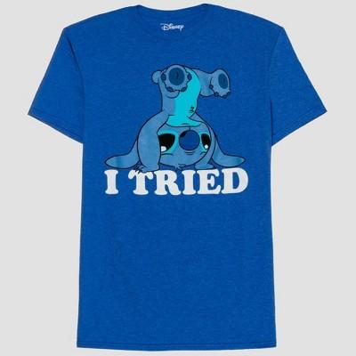 Men's Lilo & Stitch I Tried Short Sleeve Graphic Crewneck T-Shirt - Royal Blue