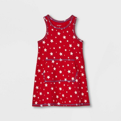 Toddler Girls' Adaptive Abdominal Access 4th of July Dress - Cat & Jack™ Red