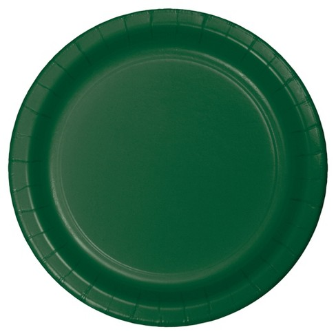 "Hunter Green 9"" Paper Plates - 24ct - image 1 of 1"