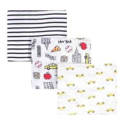 Hudson Baby Unisex Baby Cotton Muslin Swaddle Blanket - Nyc One Size