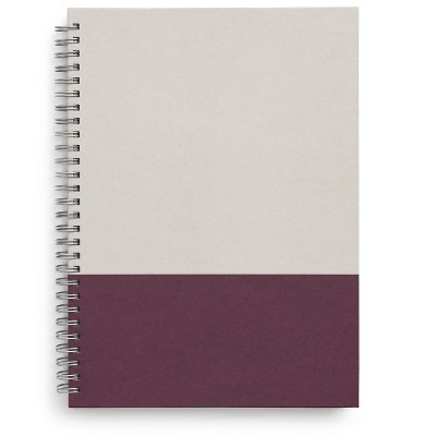 TRU RED Medium Hard Cover Ruled Notebook, Gray/Purple TR55742