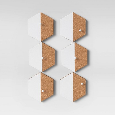 Cork Hexagon Removable Wall Decal Light Brown - Room Essentials™