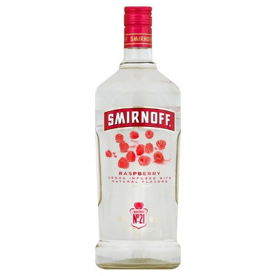 Smirnoff Raspberry Flavored Vodka - 1.75L Plastic Bottle