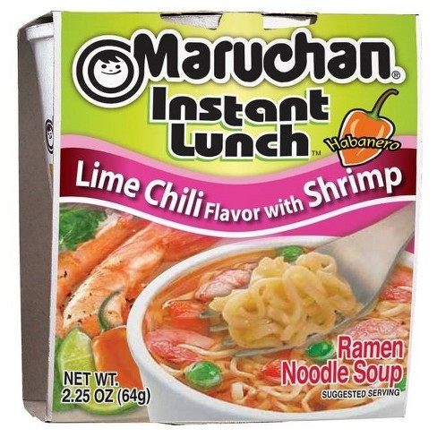 Maruchan Instant Lunch Lime Chili Flavor With Shrimp Soup 2 25oz