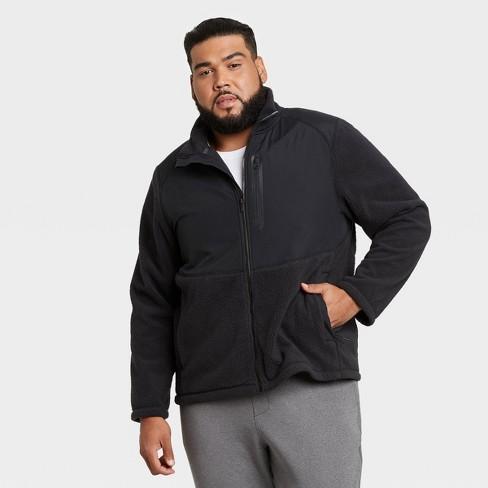 Men's Big & Tall Sherpa Fleece Jacket - All in Motion™ - image 1 of 2