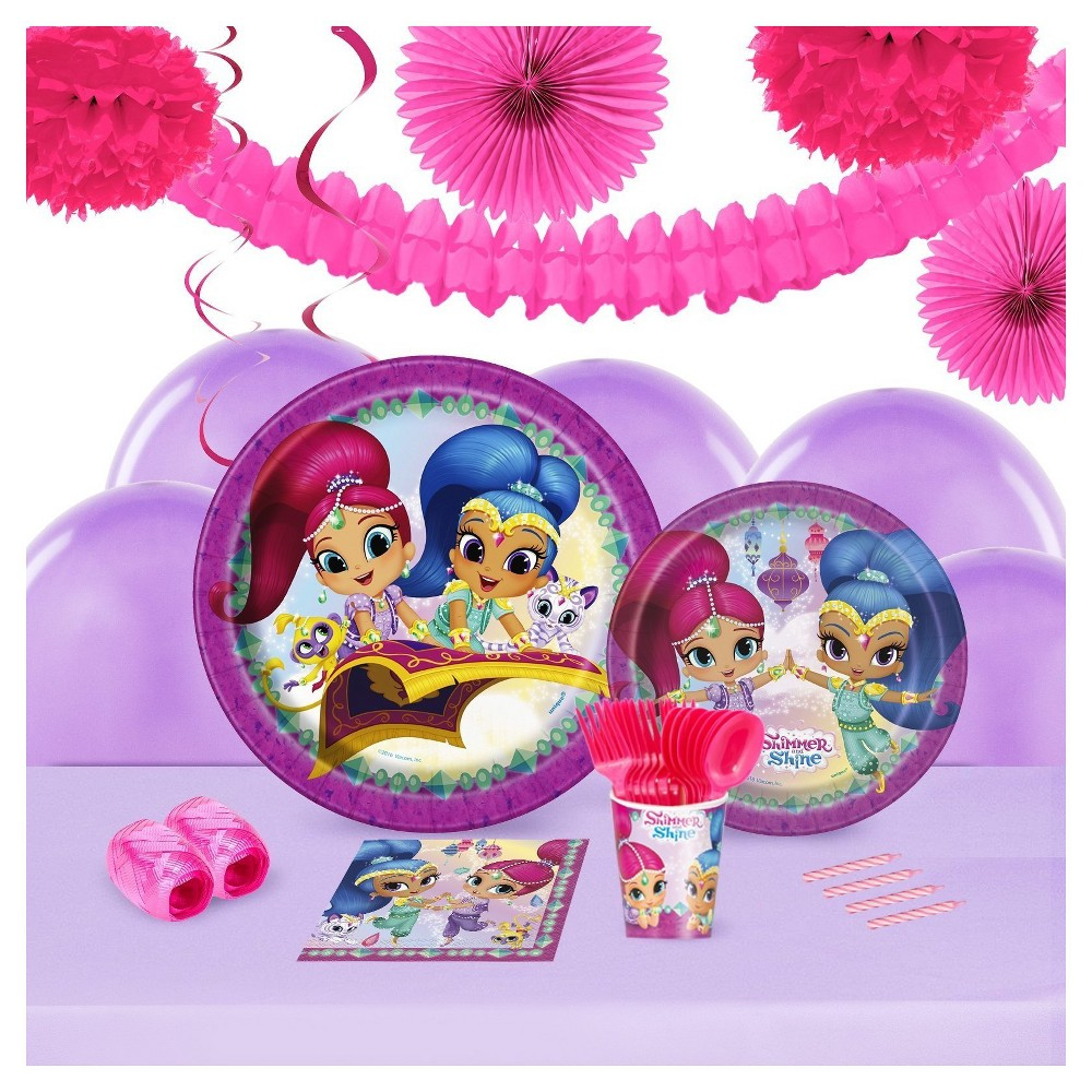 Shimmer and Shine 16 Guest Party Pk with Decoration Kit