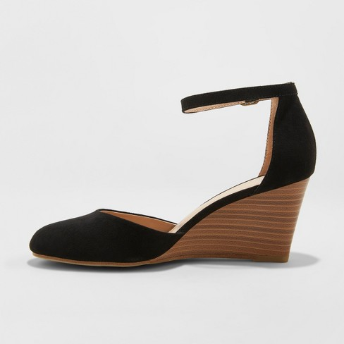 09140cddf47 Women s Wendi D Orsay Closed Toe Wedge Heels - A New Day™   Target