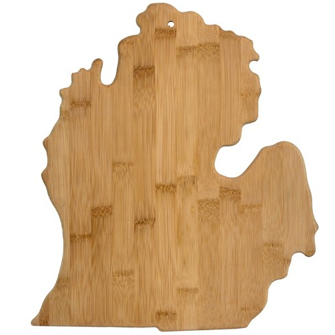 "Totally Bamboo Michigan State Cutting Board 13.25"" x 11.75"" - image 1 of 4"