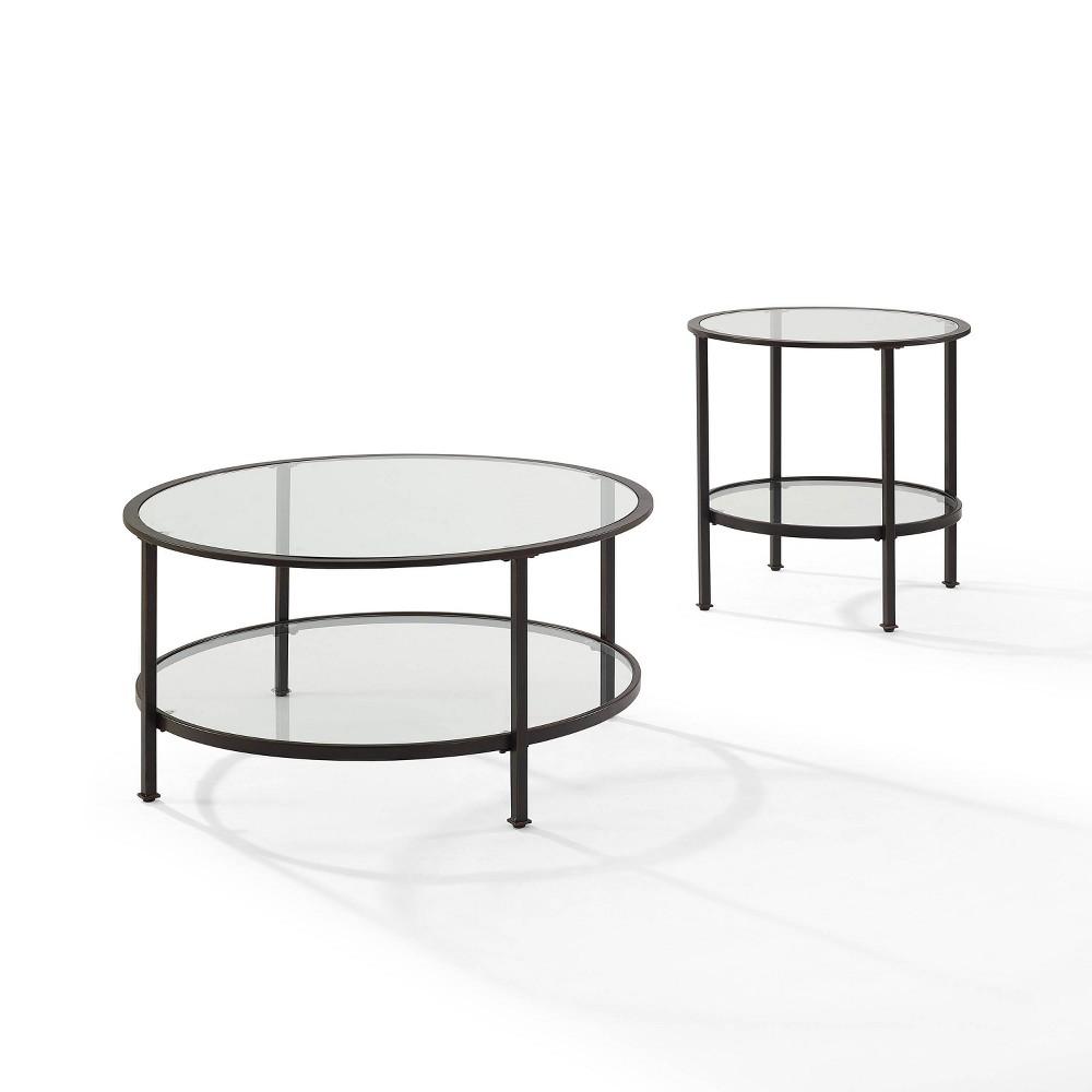 Image of 2pc Aimee Coffee Table Set Bronze - Crosley