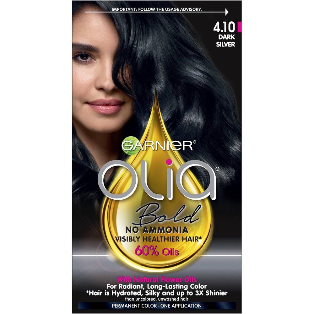 Image of Garnier Olia Bold Permanent Hair Color - 4.10 Dark Silver
