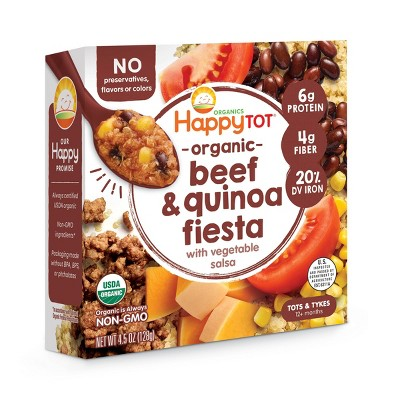 HappyTot Organic Beef & Quinoa Fiesta with Vegetable Salsa Baby Meals - 4.5oz