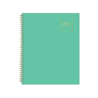 """2021 Planner 8.5"""" x 11"""" Weekly/Monthly Wirebound - Jade - Day Designer"""