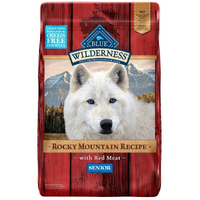 Blue Buffalo Wilderness Grain Free Rocky Mountain Recipe with Red Meat Senior Dry Dog Food