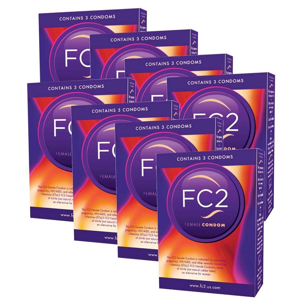 FC2 Female Condom 8 3-Packs - 24ct
