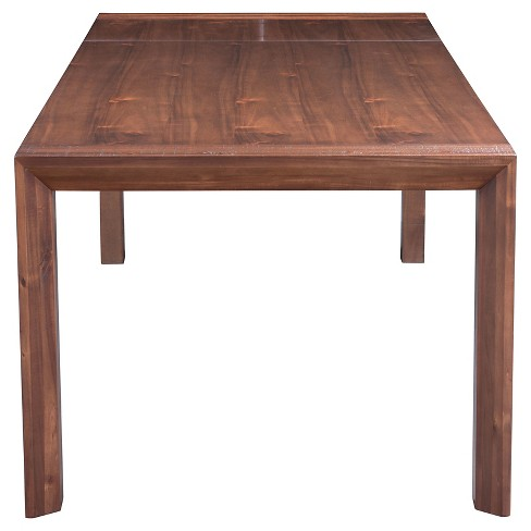 Wood And Metal Farmhouse Style 75 94 Rectangular Extension Dining Table Chestnut Zm Home Target