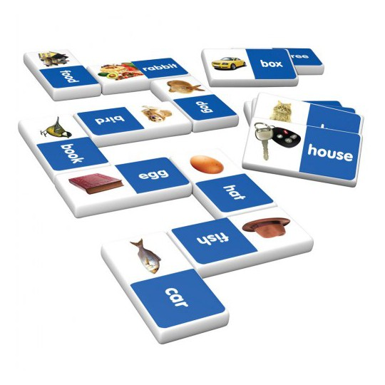 Junior Learning Ten Frame and First Words Dominoes Game Set - 56 Dominoes image number null