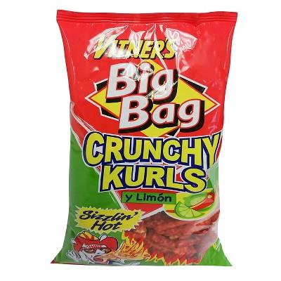 Vitner's Big Bag Sizzlin' Hot y Limon Flavored Crunchy Kurls - 9oz