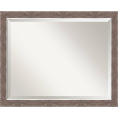 "32"" x 26"" Noble Mocha Framed Bathroom Vanity Wall Mirror - Amanti Art"