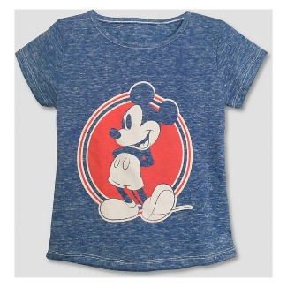 Toddler Girls' Mickey Mouse & Friends Minnie Mouse Short Sleeve T-Shirt - Blue 3T