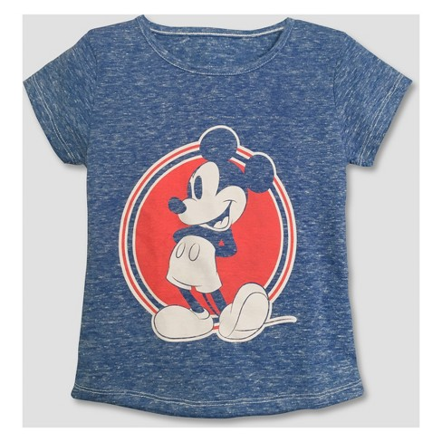 Toddler Girls' Mickey Mouse & Friends Minnie Mouse Short Sleeve T-Shirt - Blue - image 1 of 2