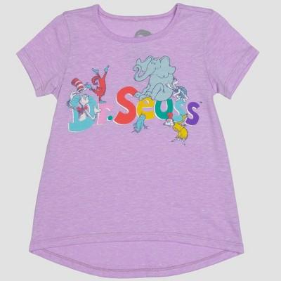Toddler Girls' Dr. Seuss Short Sleeve T-Shirt - Purple 12M