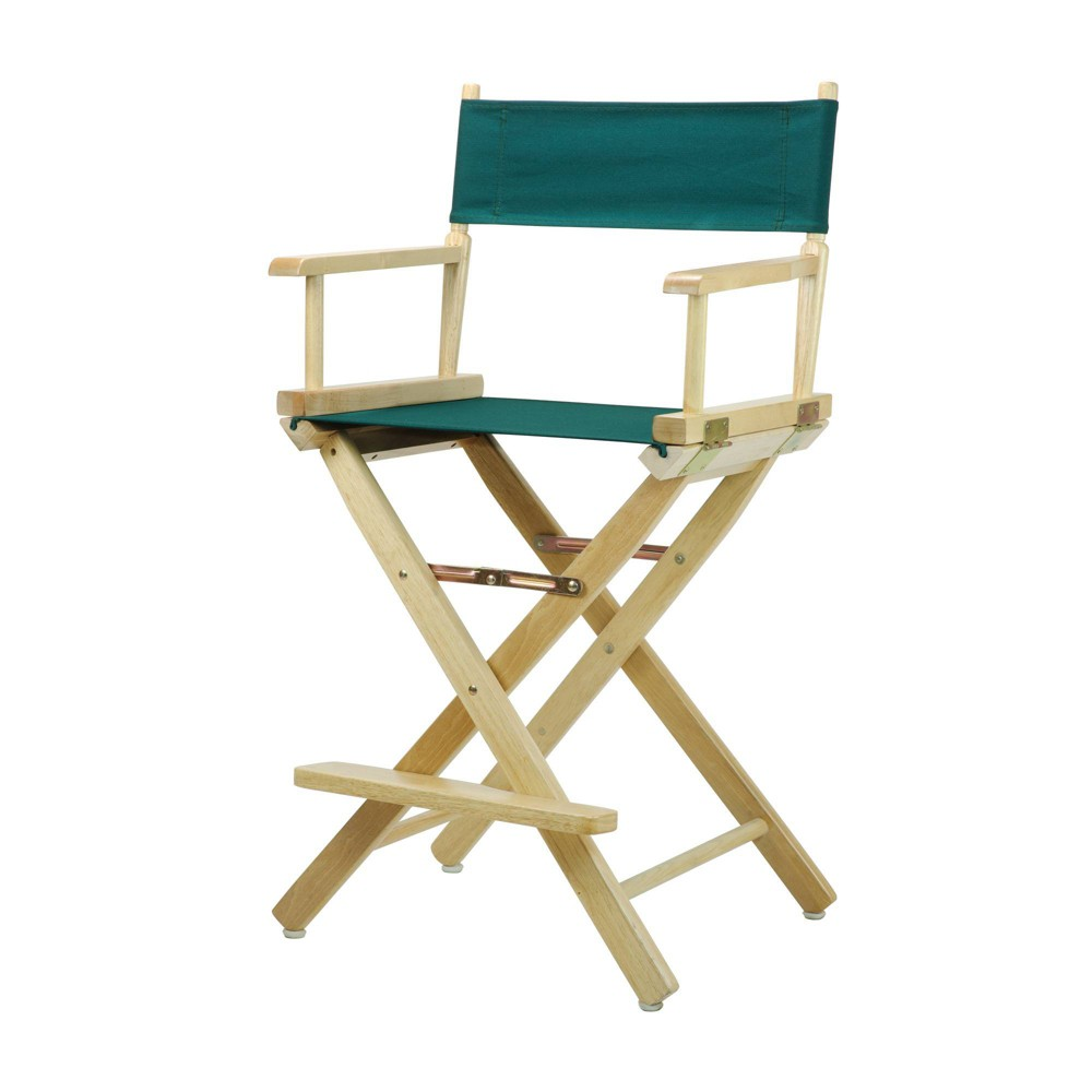 Director S Chair Counter Height Canvas Hunter Green Natural Flora Homes