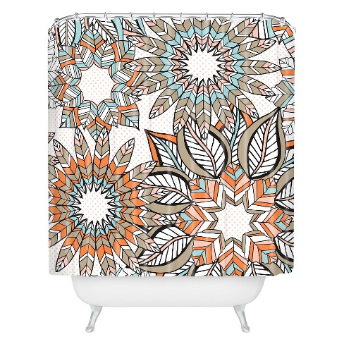 Jenean Morrison Wish List Shower Curtain Pumpkin - Deny Designs® - image 1 of 1