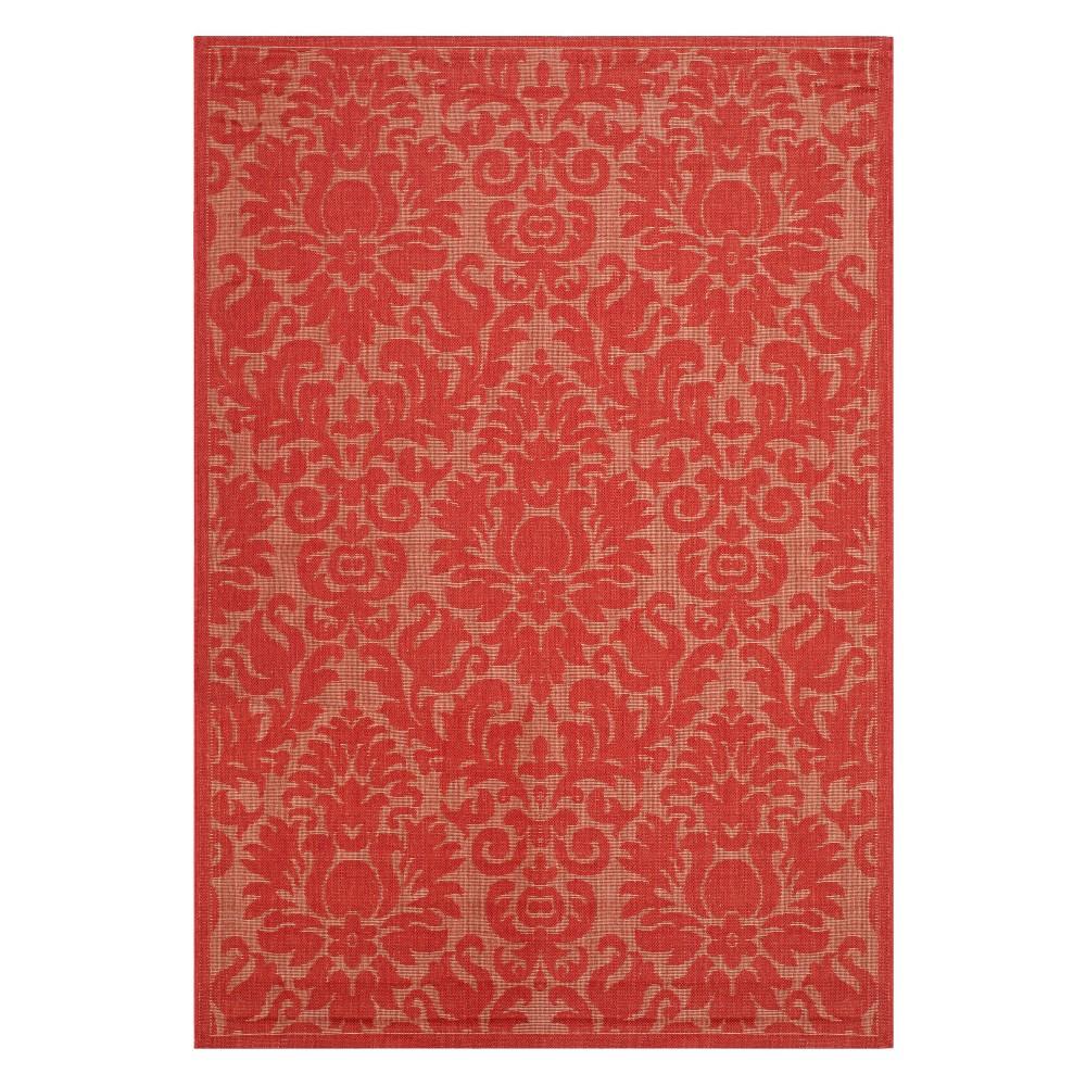 6 39 7 34 X9 39 6 34 Dorchester Damask Outdoor Rug Red Safavieh