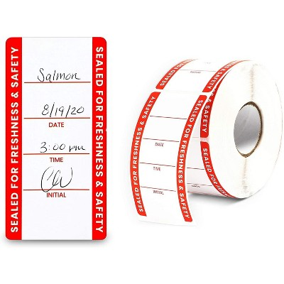 Stockroom Plus 500-Pack Tamper Evident Sticker Roll, Label Seals for Food Containers 2 x 4 in