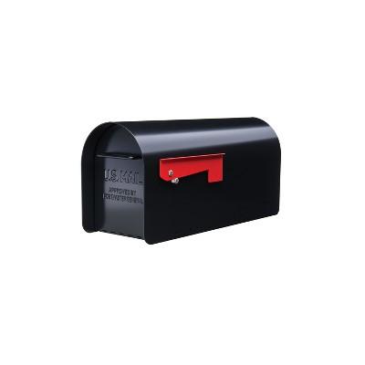 Gibraltar Mailboxes Ironside Post Mount Mailbox Black