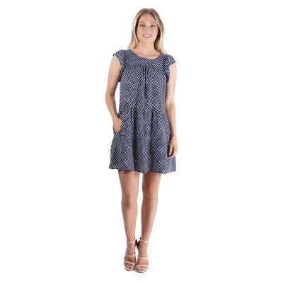 24seven Comfort Apparel Women's Ruffle Sleeve Dress