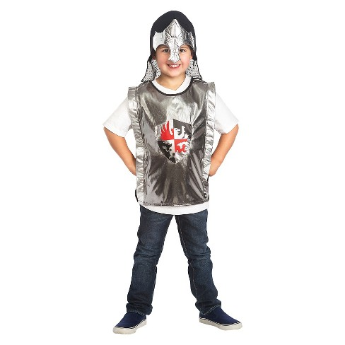 Little Adventures Black Knight Vest And Silver Helmet Set - image 1 of 1
