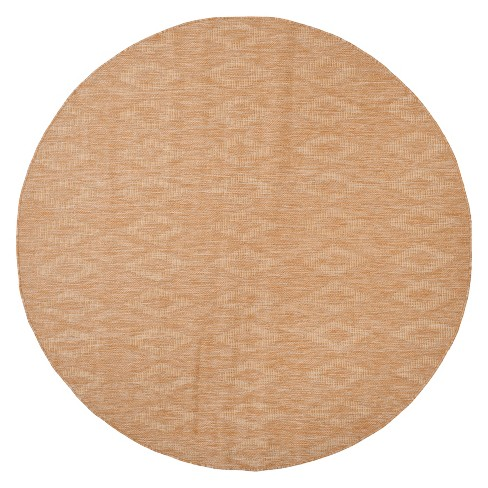 """6'7"""" Round Bolton Outdoor Rug Natural - Safavieh - image 1 of 3"""