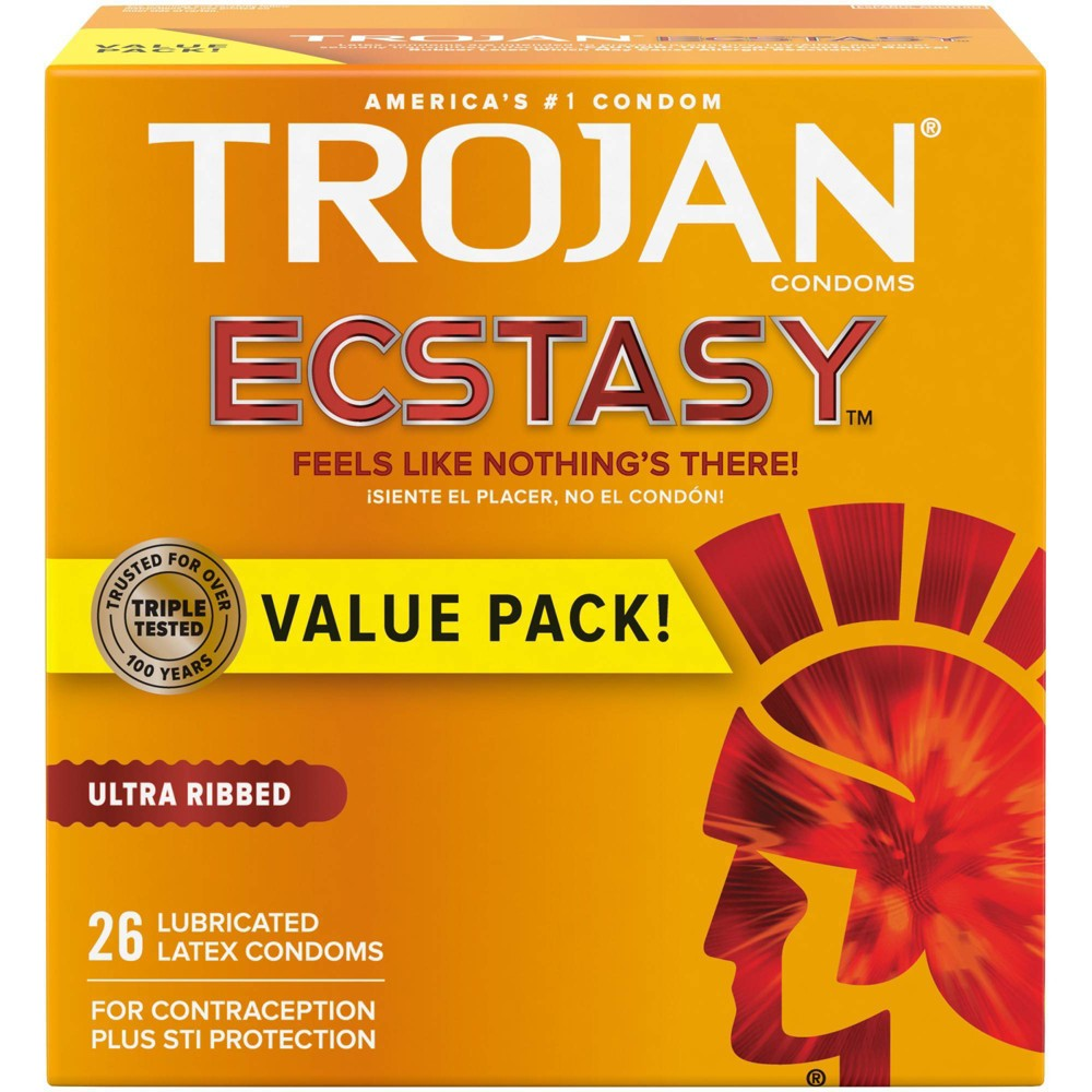 Trojan Simulations Ecstasy Ultrasmooth Lube Condoms 26ct