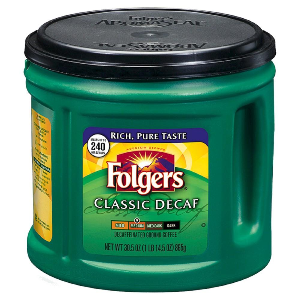 Folgers Classic Medium Roast Ground Coffee - Decaf - 30.5oz